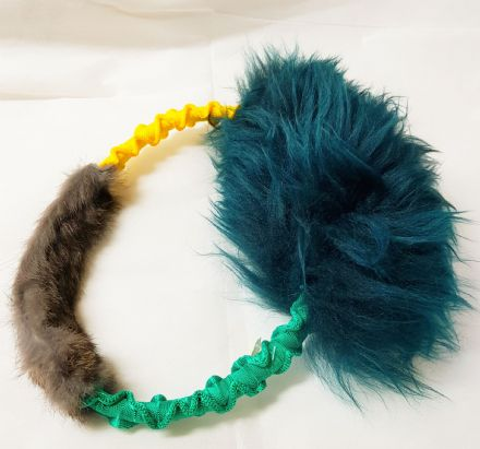 RAINBOW  BUNGEE RING (DOUBLE FUR)